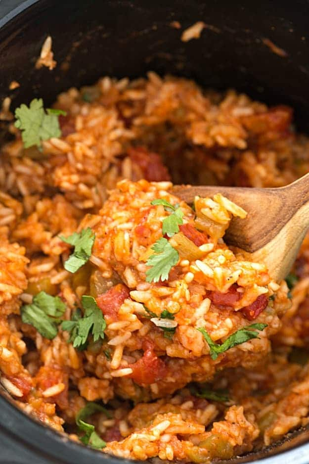 Slow Cooker Mexican Rice (Spanish Rice) - Gal on a Mission