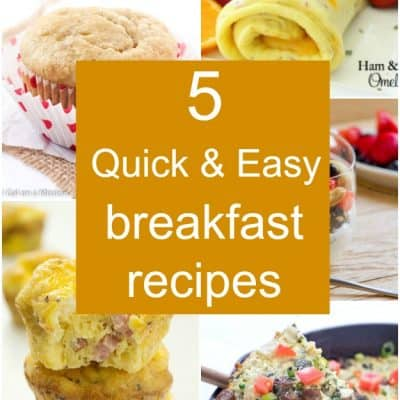 5 Quick Breakfast Options - Not a morning person? Scrambling in the morning for something eat? Here are five quick breakfast recipes that are healthy, yummy, and perfect for on-the-go!
