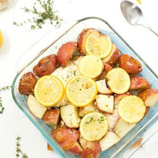 Baked Lemon Rosemary Chicken and Potatoes