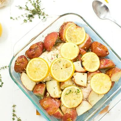 Baked Lemon Rosemary Chicken and Potatoes