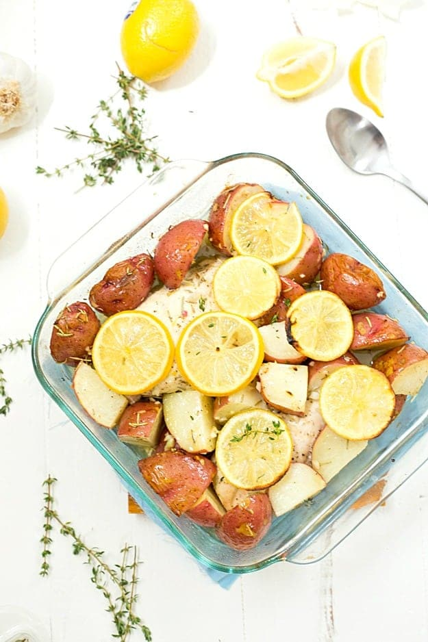 Baked Lemon Rosemary Chicken And Potatoes Gal On A Mission