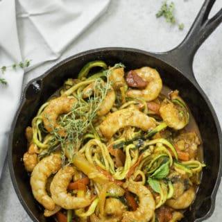 Italian Shrimp and Zucchini Noodles (Zoodles)