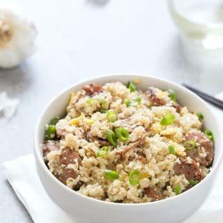 Sausage Cauliflower Fried Rice (Low Carb)