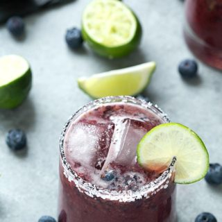 Skinny Blueberry Margarita