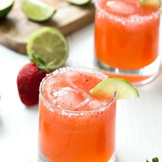 Strawberry Limeade Margaritas
