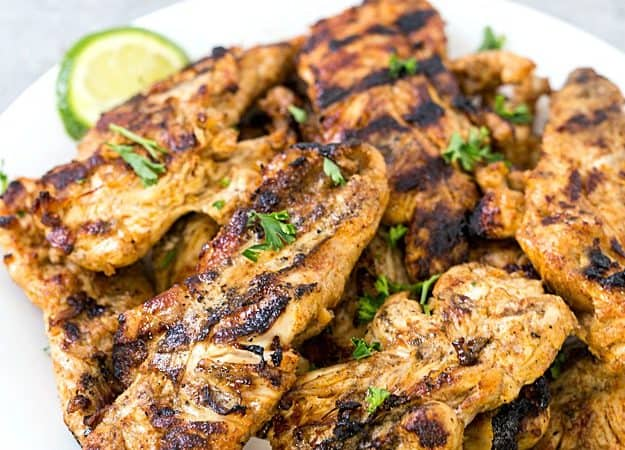 5-Ingredient Tex-Mex Chicken Marinade - The absolutely best chicken marinade with only 5 ingredients! This marinade produces so much flavor and keeps the chicken incredibly moist. Perfect for salads, sandwiches, you name it!