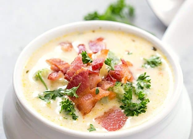 Creamy Broccoli Potato Soup - Dinner cannot get any easier! This soup is thick, creamy, flavorful, and loaded with broccoli, tender diced potatoes, and sharp cheddar cheese!