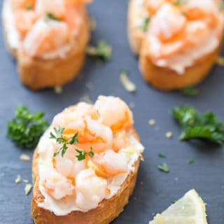 Shrimp Scampi Crostini