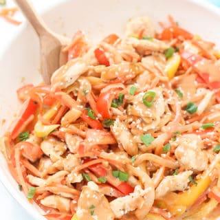 Easy Healthy Chicken Satay Stir Fry