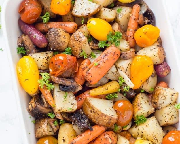 Easy Italian Roasted Vegetables