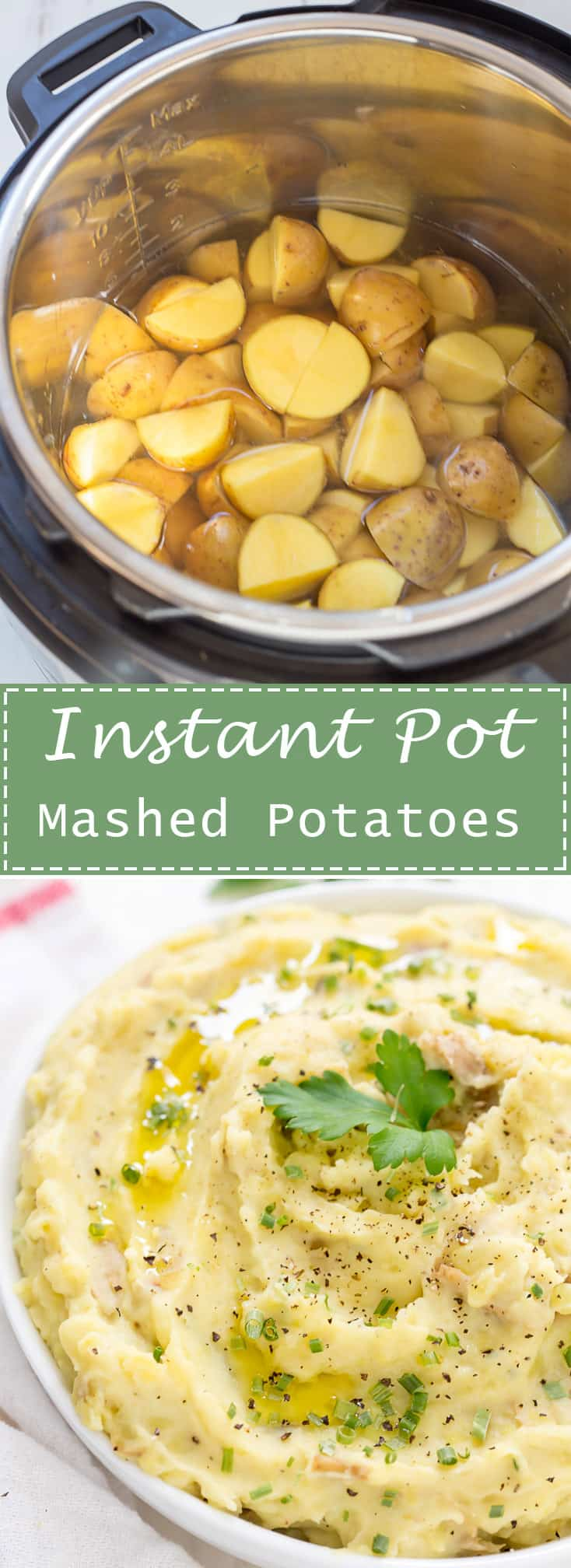 Instant Pot Mashed Potatoes are a time saver and made in about 8 minutes! They come out perfectly creamy, light, and fluffy every single time!