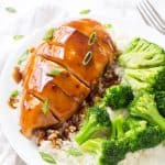 This Easy Baked Teriyaki Chicken is the perfect weeknight meal! Juicy and tender chicken breasts are baked in this incredible homemade teriyaki sauce. So simple and incredibly flavorful!
